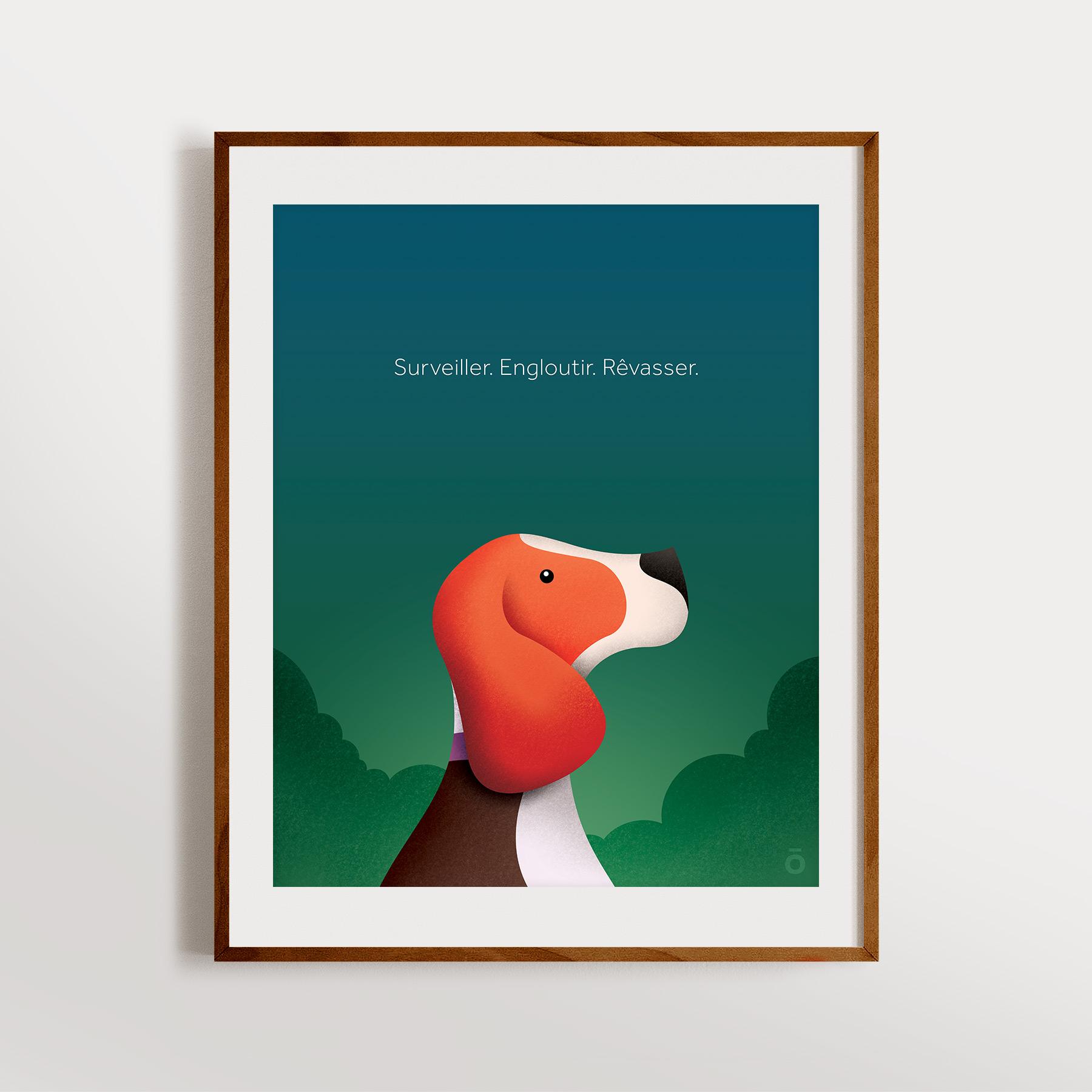 Affiche beagle – Nuit d'été