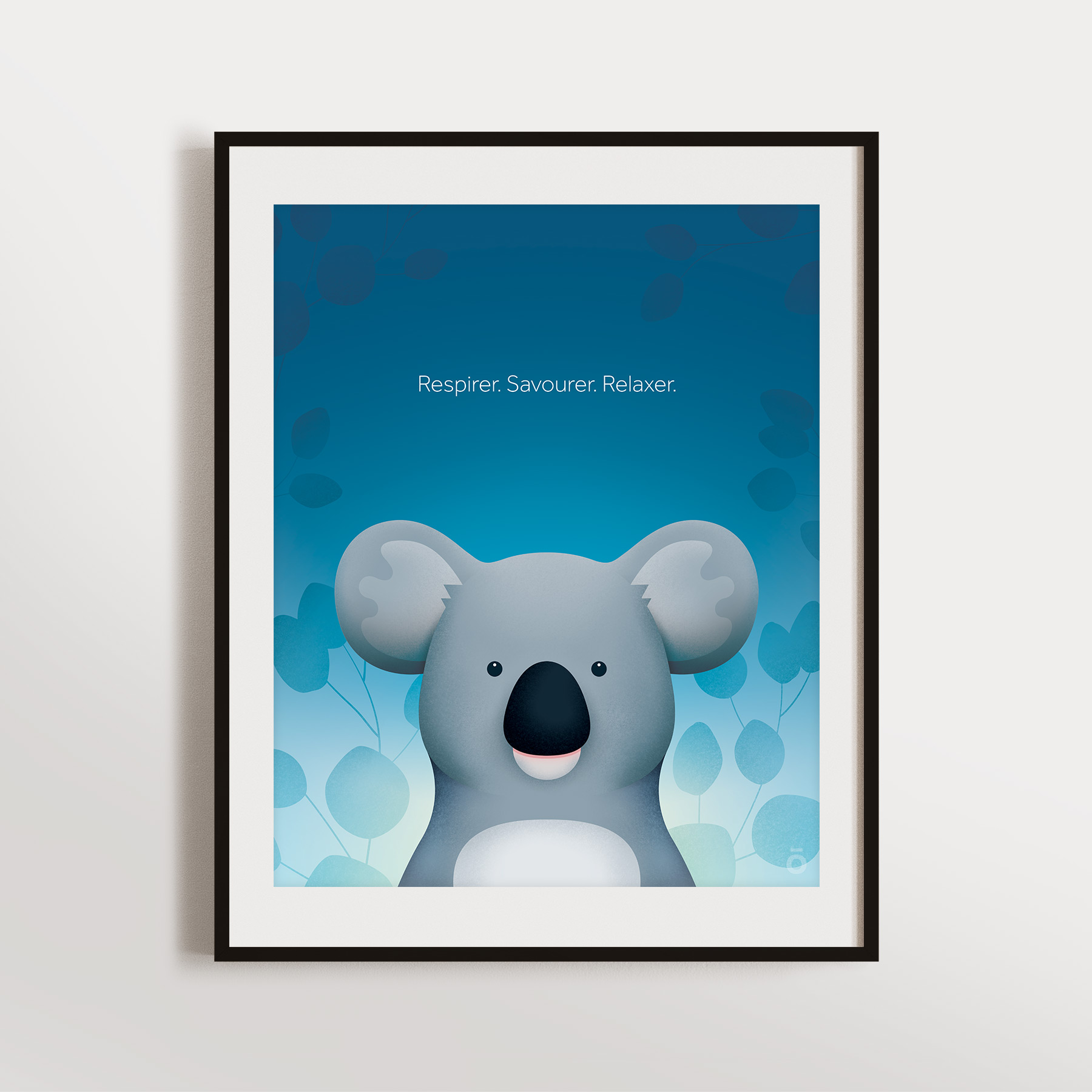 Affiche koala - Nuit lumineuse