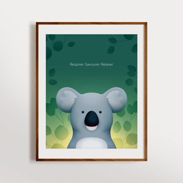 Affiche koala - Forêt émeraude