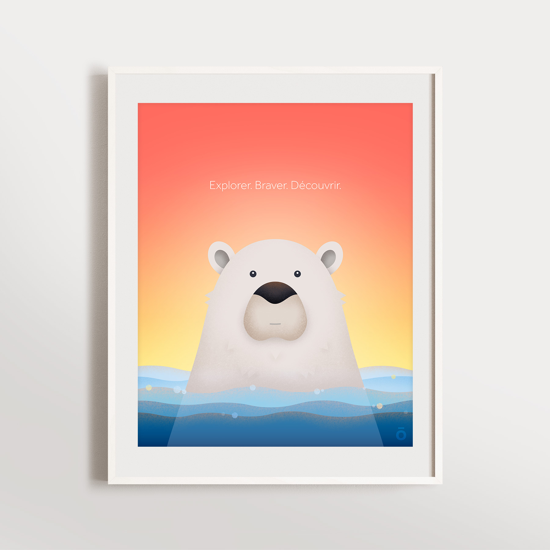 Affiche ours polaire - Bain de soleil