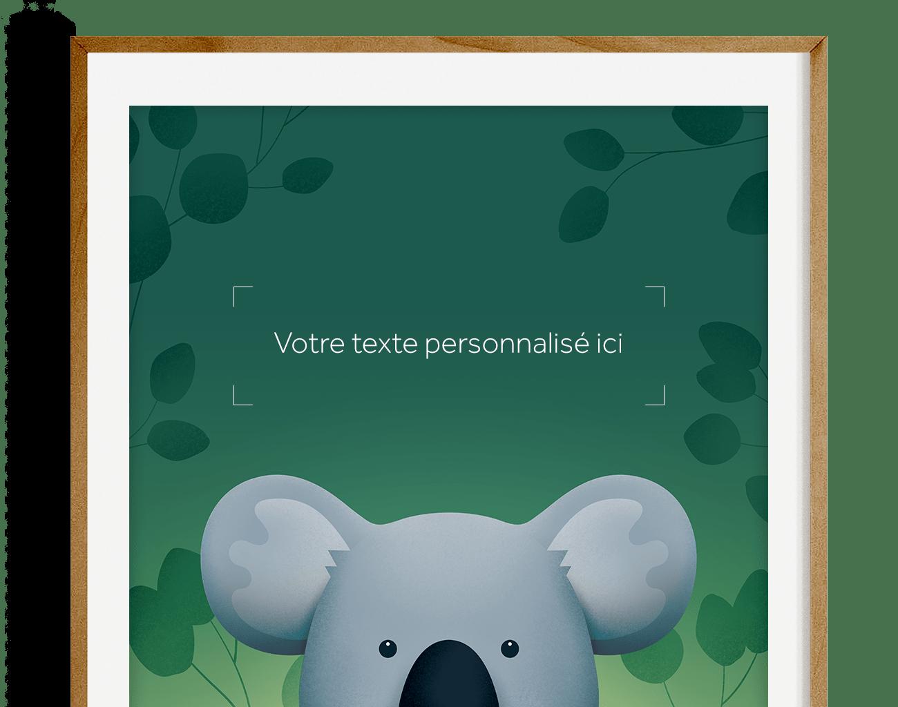 Affiche personnalisée – Koala