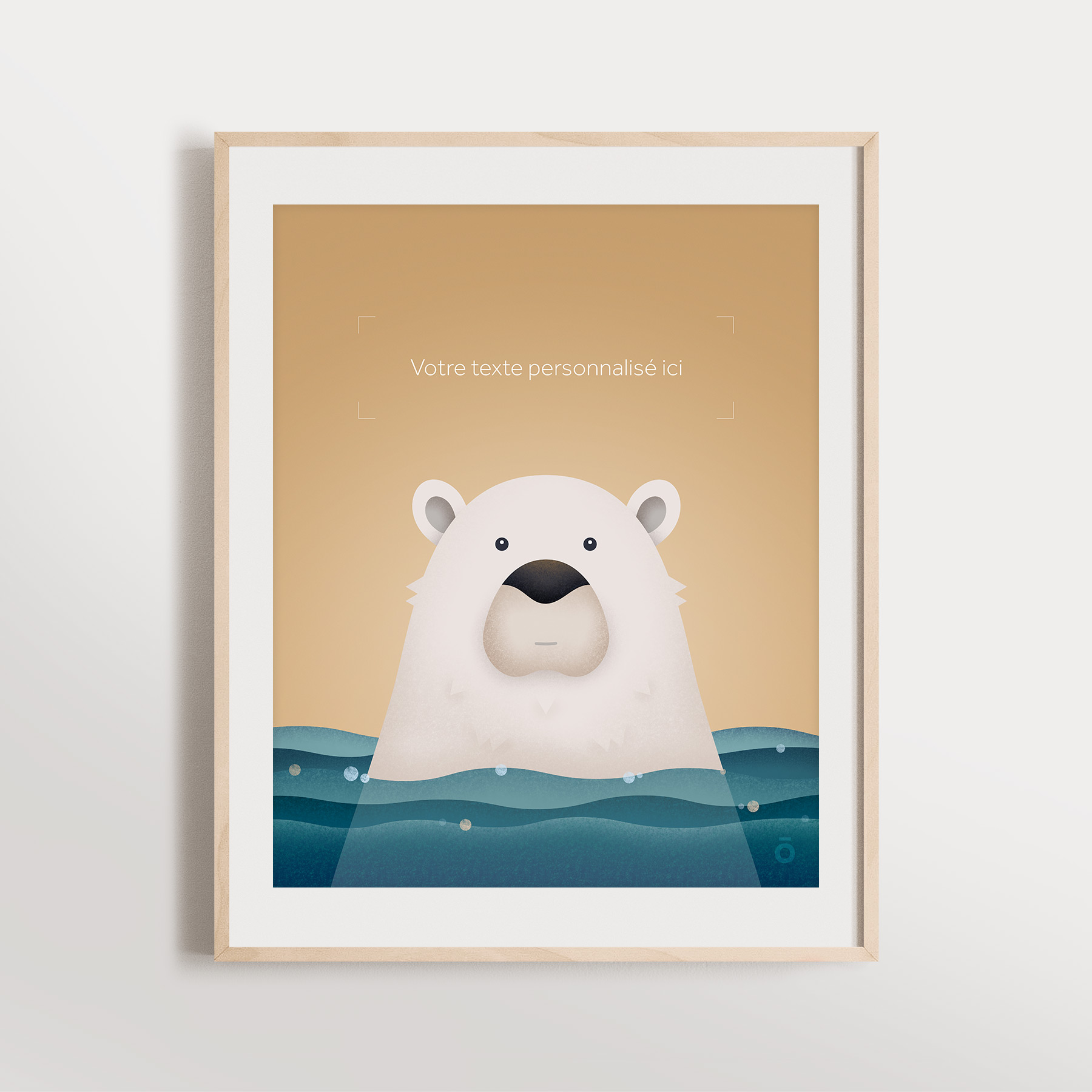 Affiche personnalisée – Ours polaire paisible (Doux souvenirs)