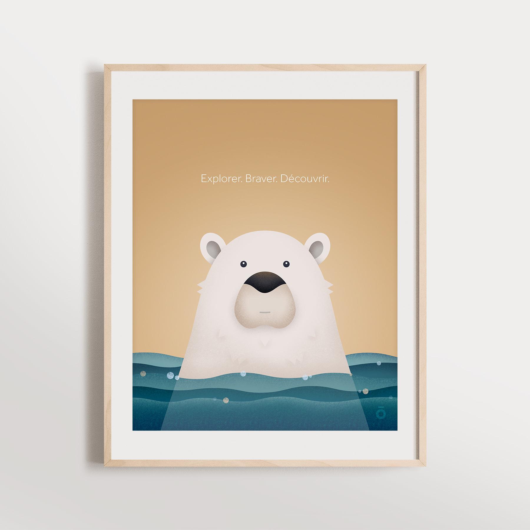 Affiche – Ours polaire paisible (Doux souvenirs)