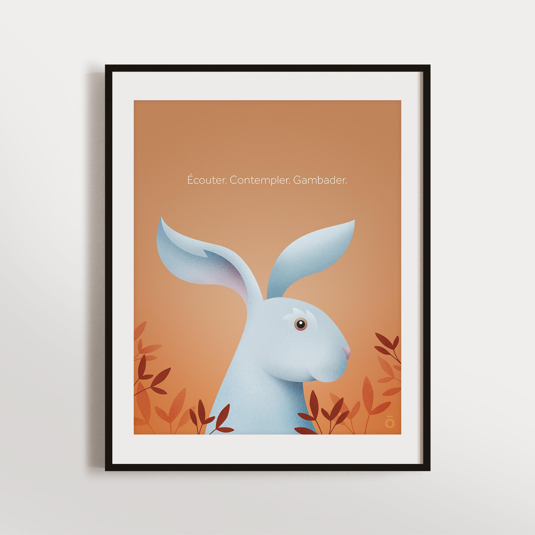 Affiche – Lièvre charmant (Clarté automnale)