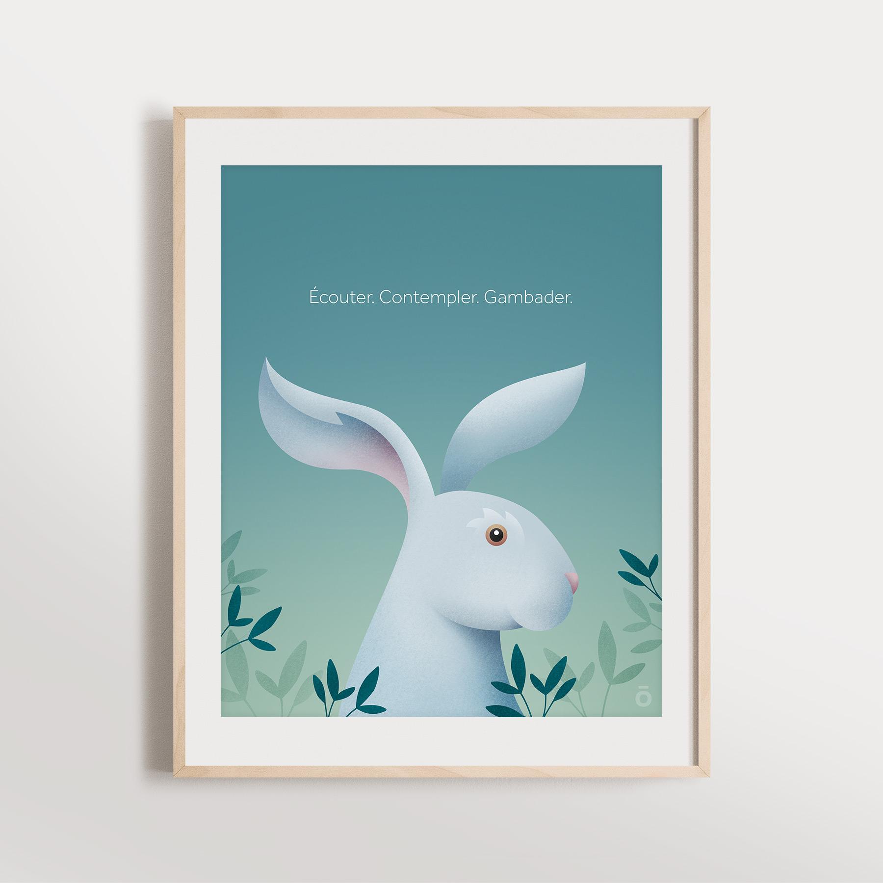 Affiche – Lièvre charmant (Doux matin)