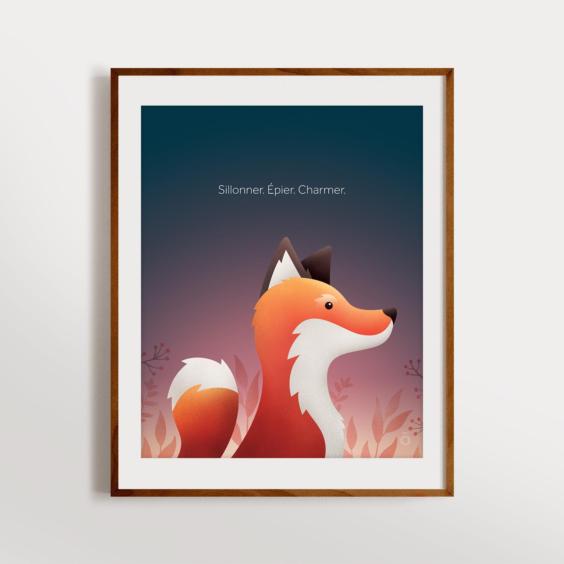 Affiche renard – Tombée du jour