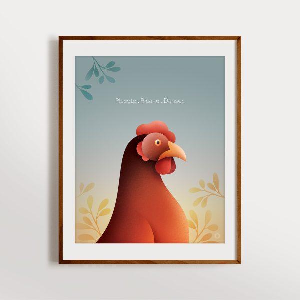 Affiche – La poule aux yeux d'or – Première lueur