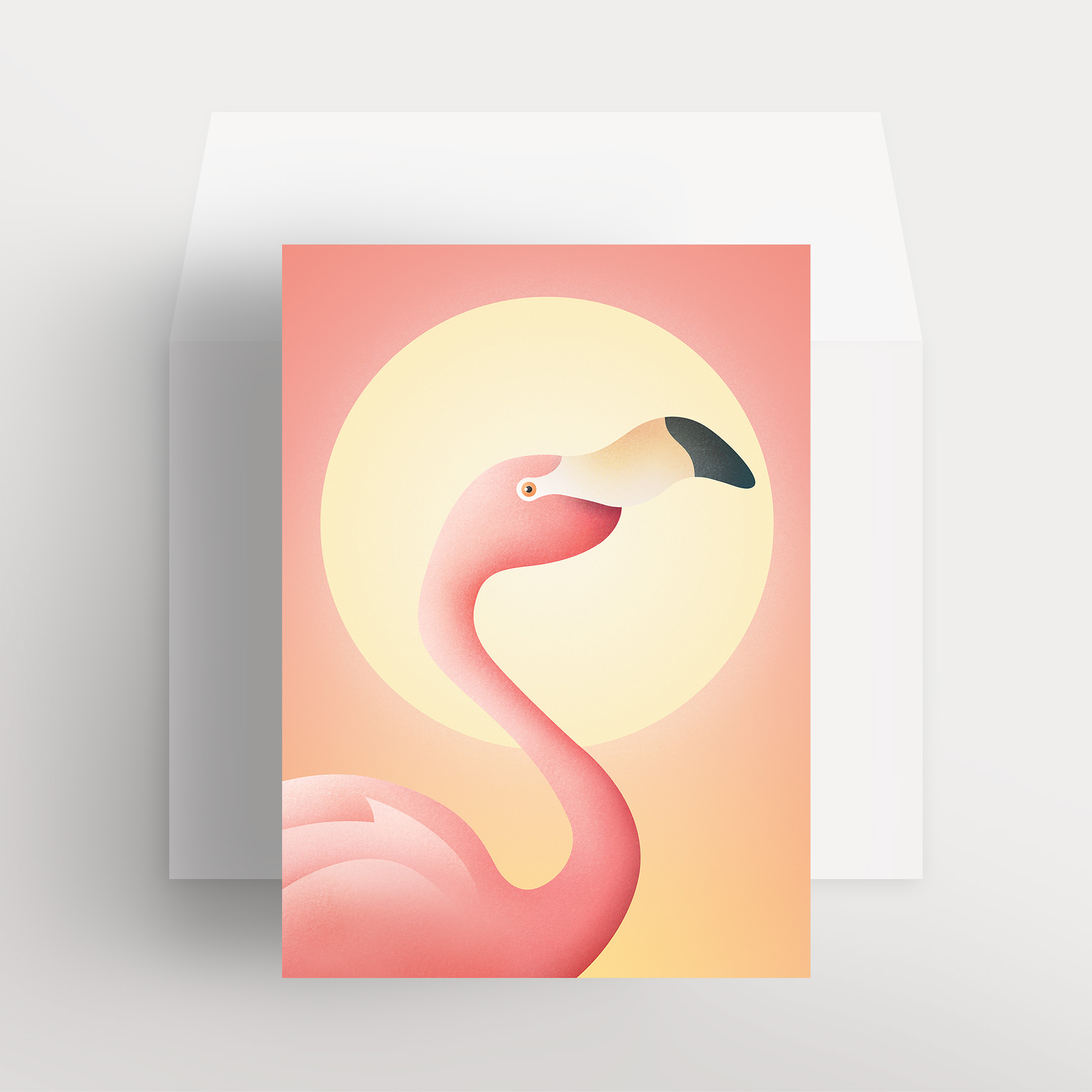 Carte de souhaits – Flamant flamboyant (Rose – Pour toujours)