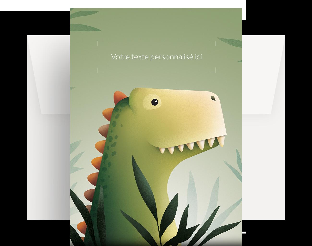 Carte de souhaits personnalisée – L'éveil du tyrannosaure